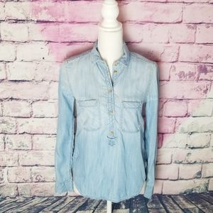 AMERICAN EAGLE OUTFITTERS HI LOW DENIM TOP